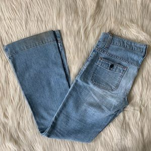American Eagle Outfitters Jeans - American Eagle Flare Leg Jeans, Light Wash, Size 6
